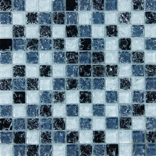 Pastilha 30x30 Vidro Mix Cracked Ref 1011 Pc Delicatta Mosaicos