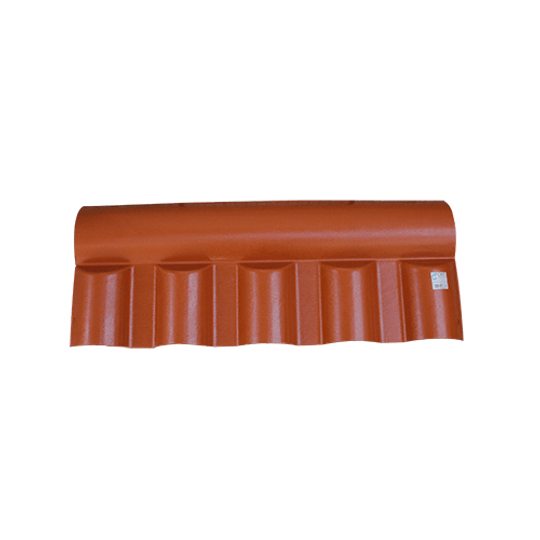 Cumeeira Central Articulada Colonial Pvc Terracota Nova Fort